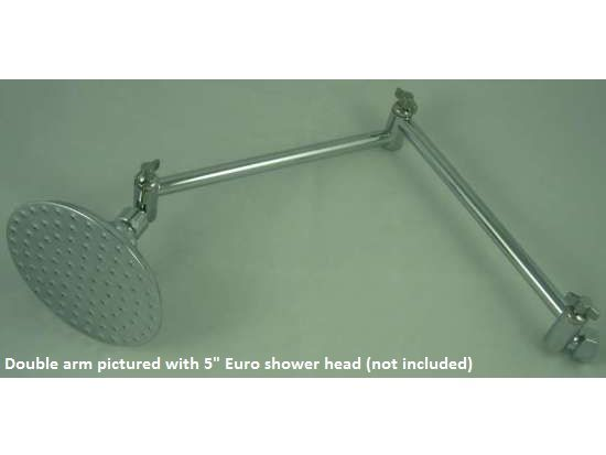 Double Brass Extension Arms Shower Head Extension Brass Extensions