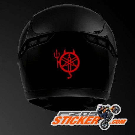 Yamaha FZ Devil Helmet Stickers Helmet Jazz Pinterest Helmets - Motorcycle helmet designs custom stickers