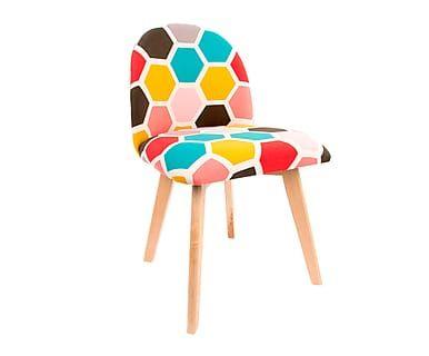 silla de diseño madera hexagono