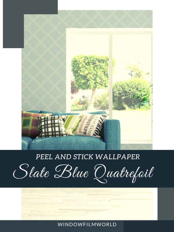 Slate Blue Quatrefoil Peel And Stick Wallpaper Simple Decor Decorating Solutions Blogger Decor