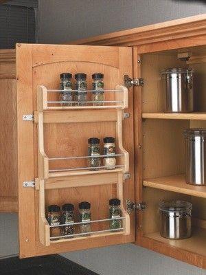 Details about  /Kitchen Pantry Storage Cabinet Metal Spice Rack Organizer Wall//Door Mount Decor