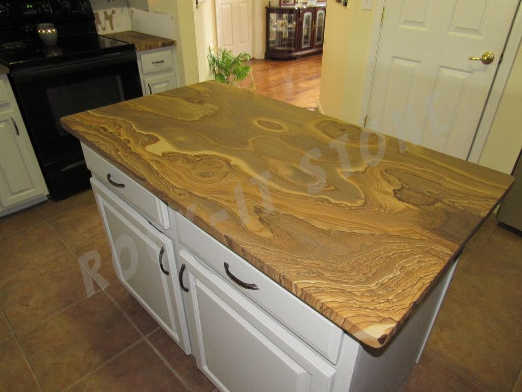 Natural Stone Looks Like Wood Counter