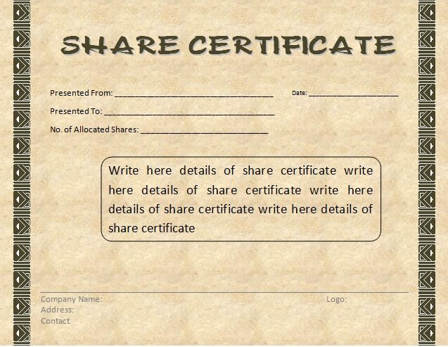 10 share certificate templates word excel pdf templates www 10 share certificate templates word excel pdf templates yelopaper Gallery
