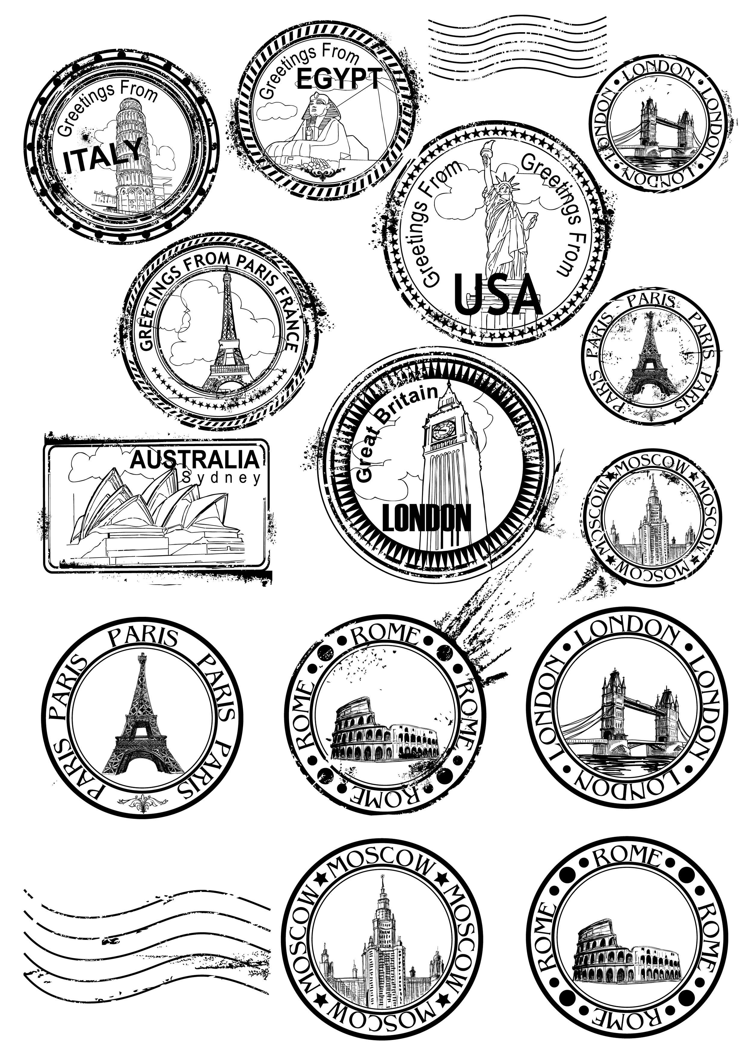 Old Postmark Postage Clipart Vintage Post Office Cancellation Mark Clip Art Mykinglist Com Travel Stamp Bullet Journal Stickers Journal Stickers