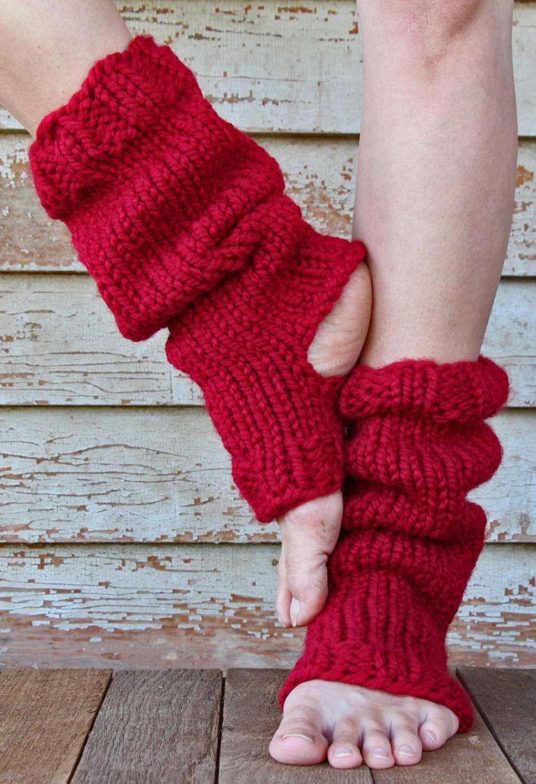 Knitting Pattern for Yoga Sock Leg Warmers - #ad Knits up in about 7 ...