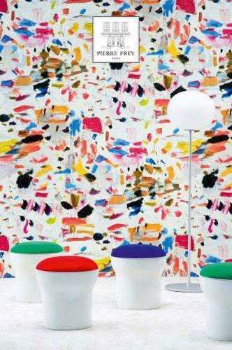Abstrakte Malerei Von Marie Cécile Aptel: Tapete Arty Von Pierre Frey  Www.meinewand.de #design #französisch #tapete #wohnzimmer