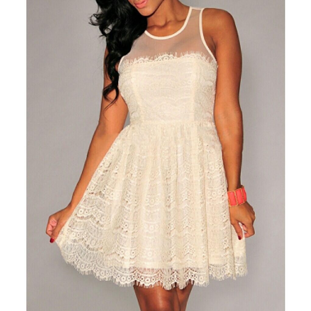 a4a5aca5da277 En Creme Lace Dress Beautiful Junior