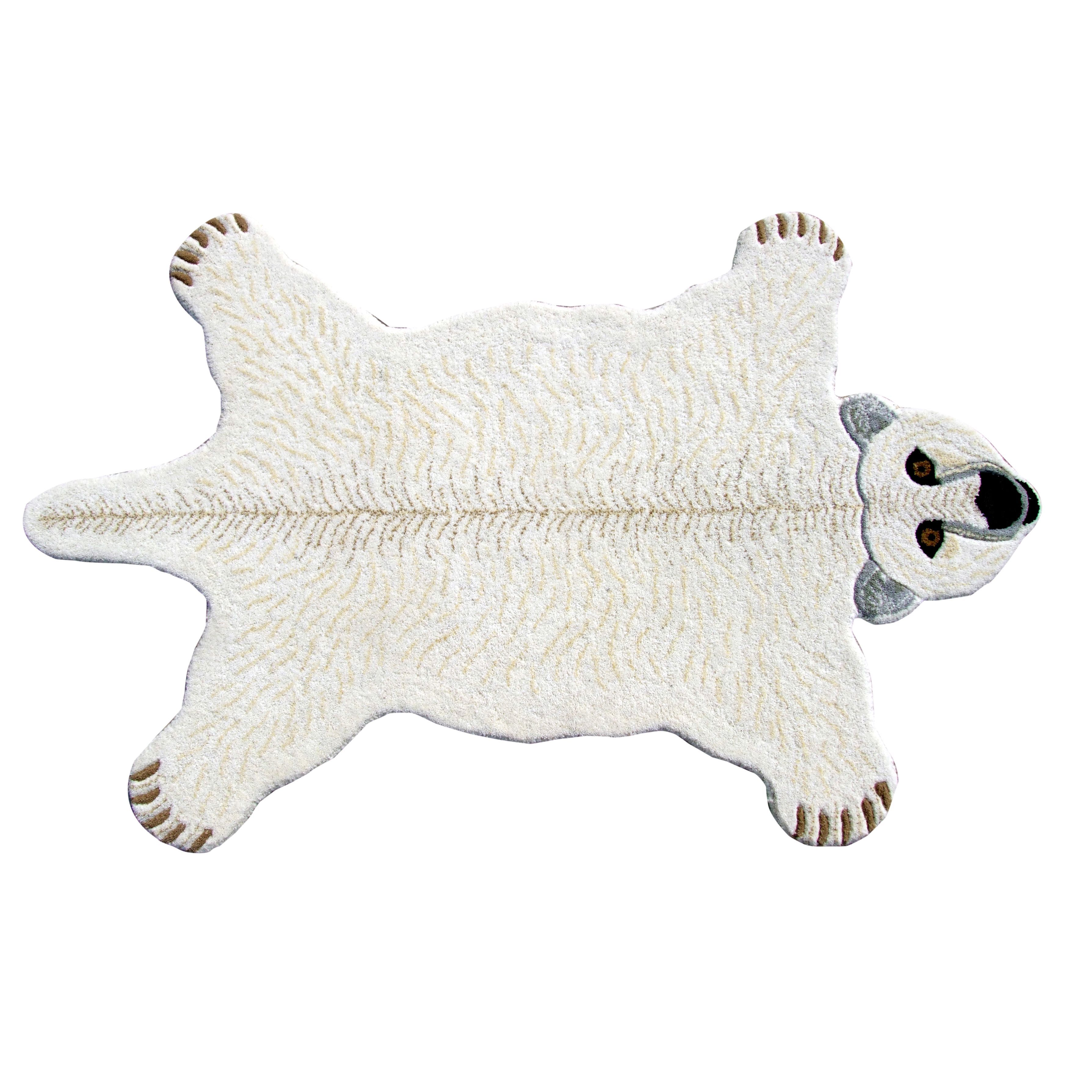 Get The Look And Feel Of A Polar Bear Skin Rug In Your Home Without Trouble Hunting One This Hand Tufted Shaped Is Made Quality