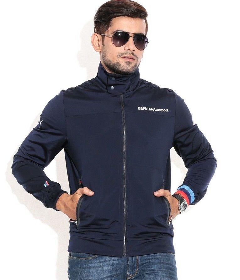 8958513c573f Puma Bmw Motorsport Men s Premium Bonded Jacket Team Navy Blue 888535445127