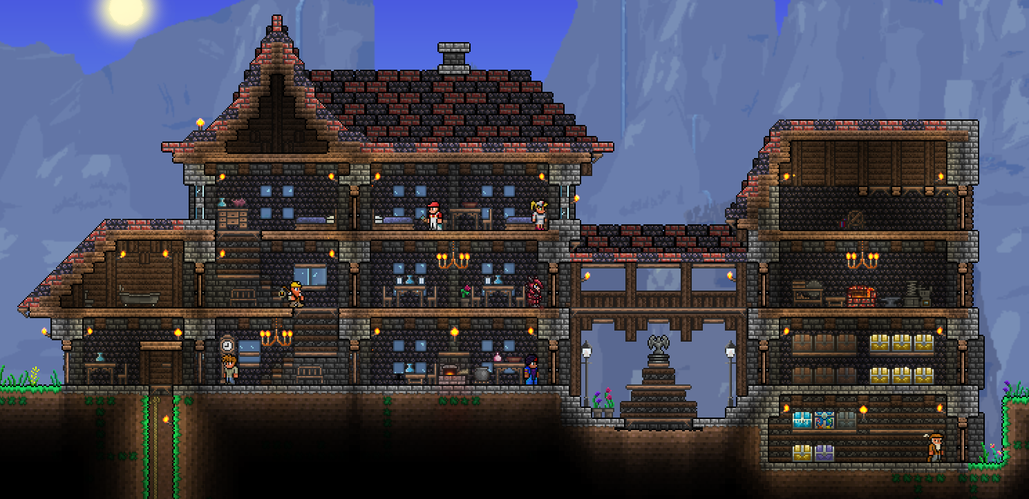 Printable terraria house blueprint google search for How to find a good home builder