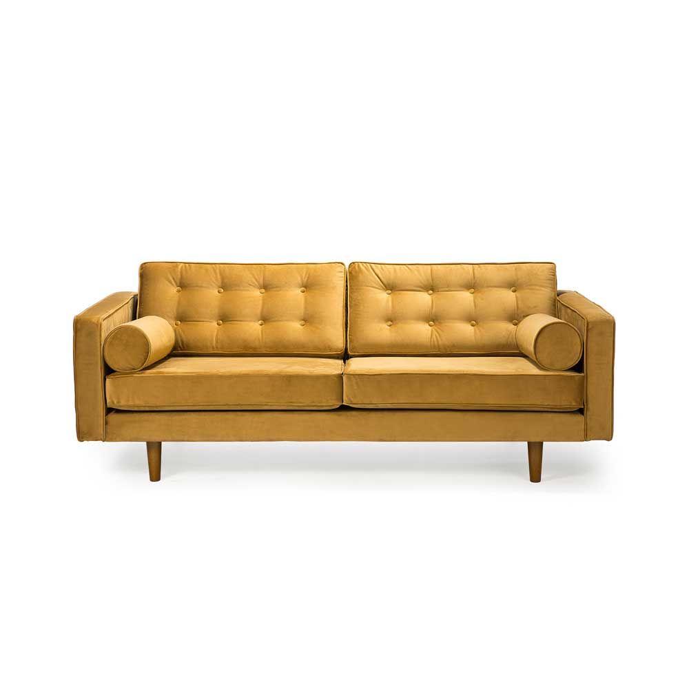 Ethnicraft Sofa N101 Samt Gelb Blau Samt Sofa Sofa Sofa