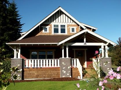 Arts And Craft Home Bungalow Style Acreage Home Styles Craftsman Style Bungalow Craftsman House Craftsman Style House Plans