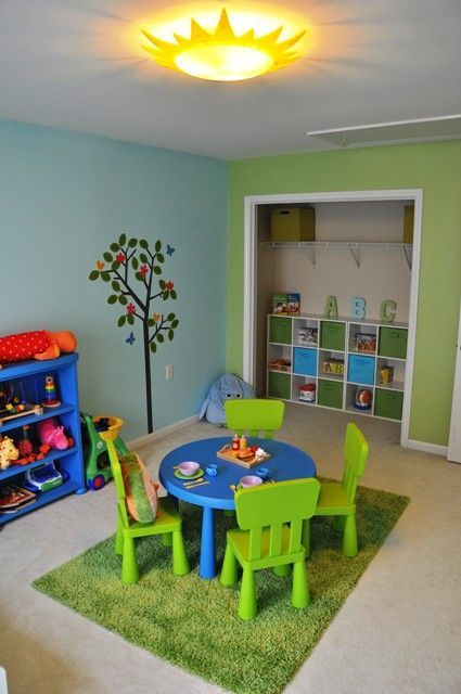 Photo of Nature inspired game room, we had a great time making this playroom for our …