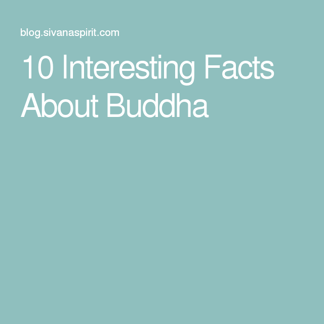 What are some interesting facts about Buddha?