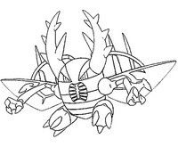 Coloring Page Mega Pinsir 127 Pokemon Coloring Pages Coloring