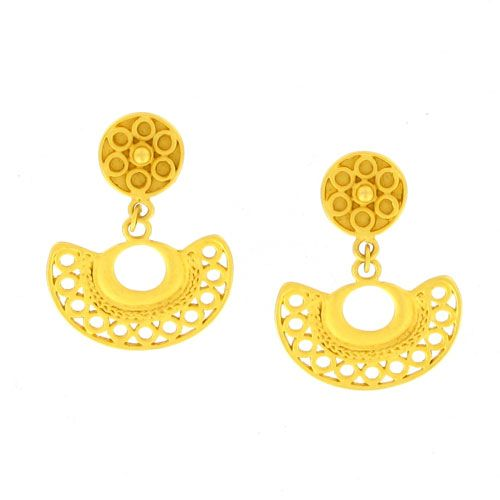 24k gold-plated earrings based on an orginal piece from ancient Colombia.