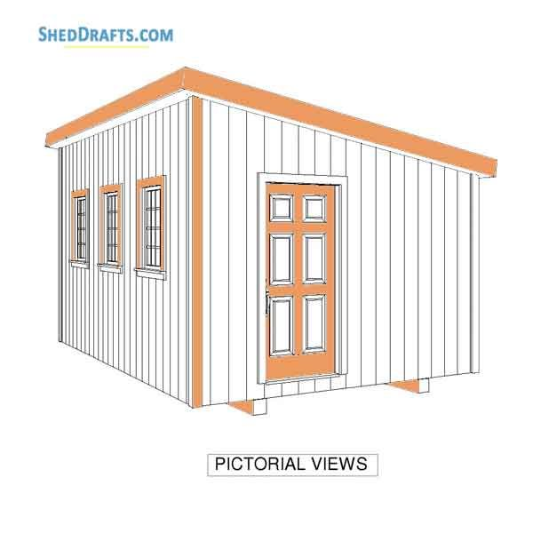 12×16 Wooden Lean To Shed Plans Blueprints To Create