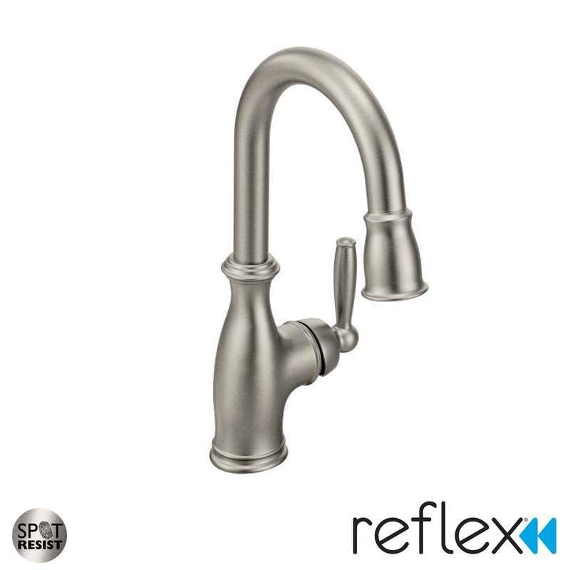 Moen 5985 Chrome Brantford Pullout Spray Bar Faucet with Reflex ...