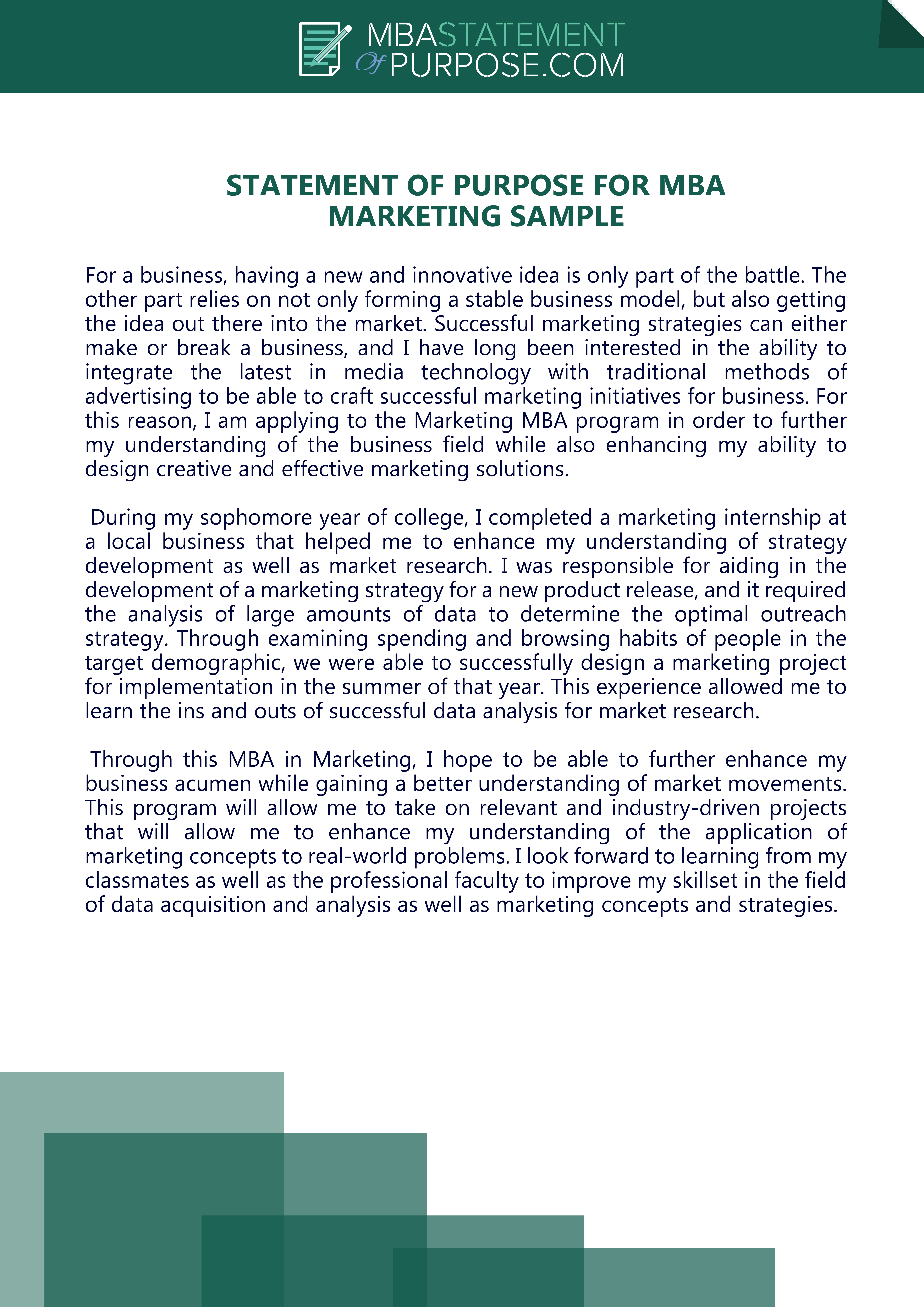 Follow Thi Link To Get Statement Of Purpose For Mba Marketing Sample Htt Personal Grad School Example Scholarship Essay Examples Stanford