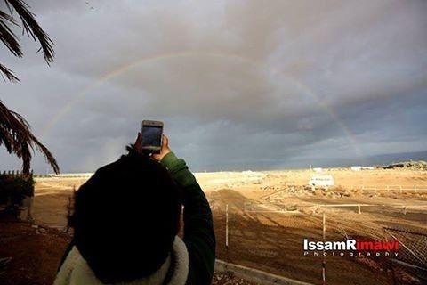 شبكة اجواء فلسطين شبكة قدس الاخبارية صورة لقوس المطر في سماء مدينة أريحا يوم الجمعة G S Chasers Instagram Instagram Posts Photo