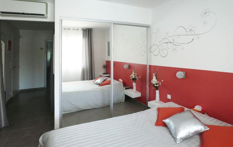 Chambre adulte / Orange et Argent | idées design | Pinterest ...