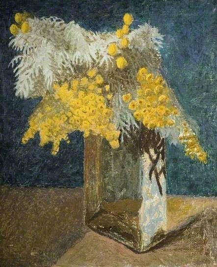 Artemisia in a Glass Vase by Kaff Gerrard