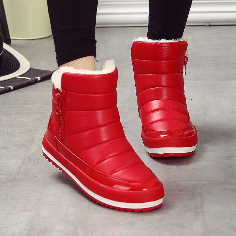 Femme bottes de neige Coton Chaud d'hiver Feminine Respirante Chaussures Petite taille tXY3d2MnUx