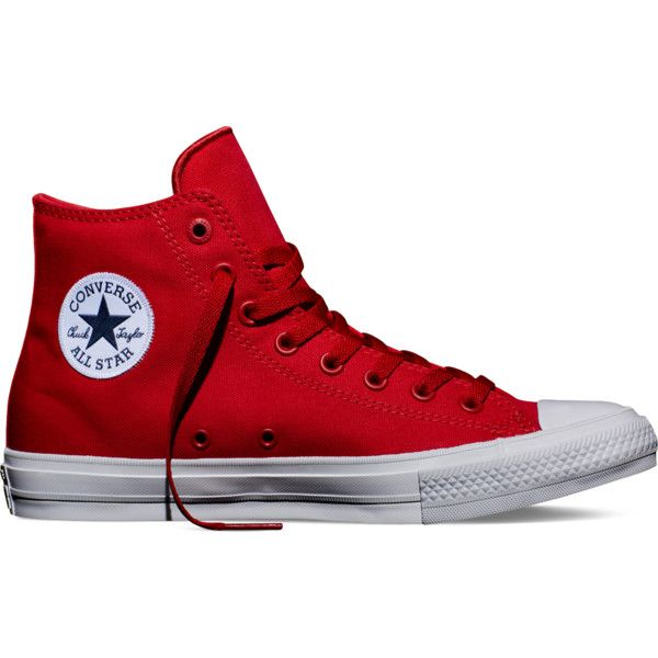 Converse Chuck Taylor All Star II – salsa red Sneakers ($75) ❤ liked on