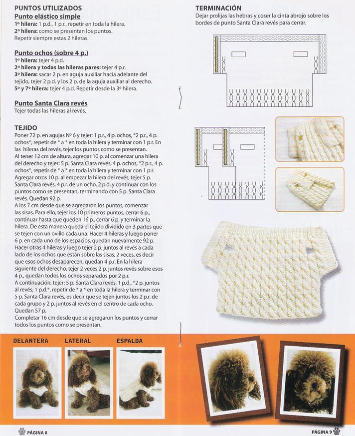 ARAÑA TEJE TEJE: saquitos para perros http://www.imagui.com/a/ropa ...