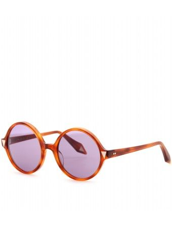 Retro Sonnenbrille XXL Boho Oversize Brille rund Holz Optik Damen 845