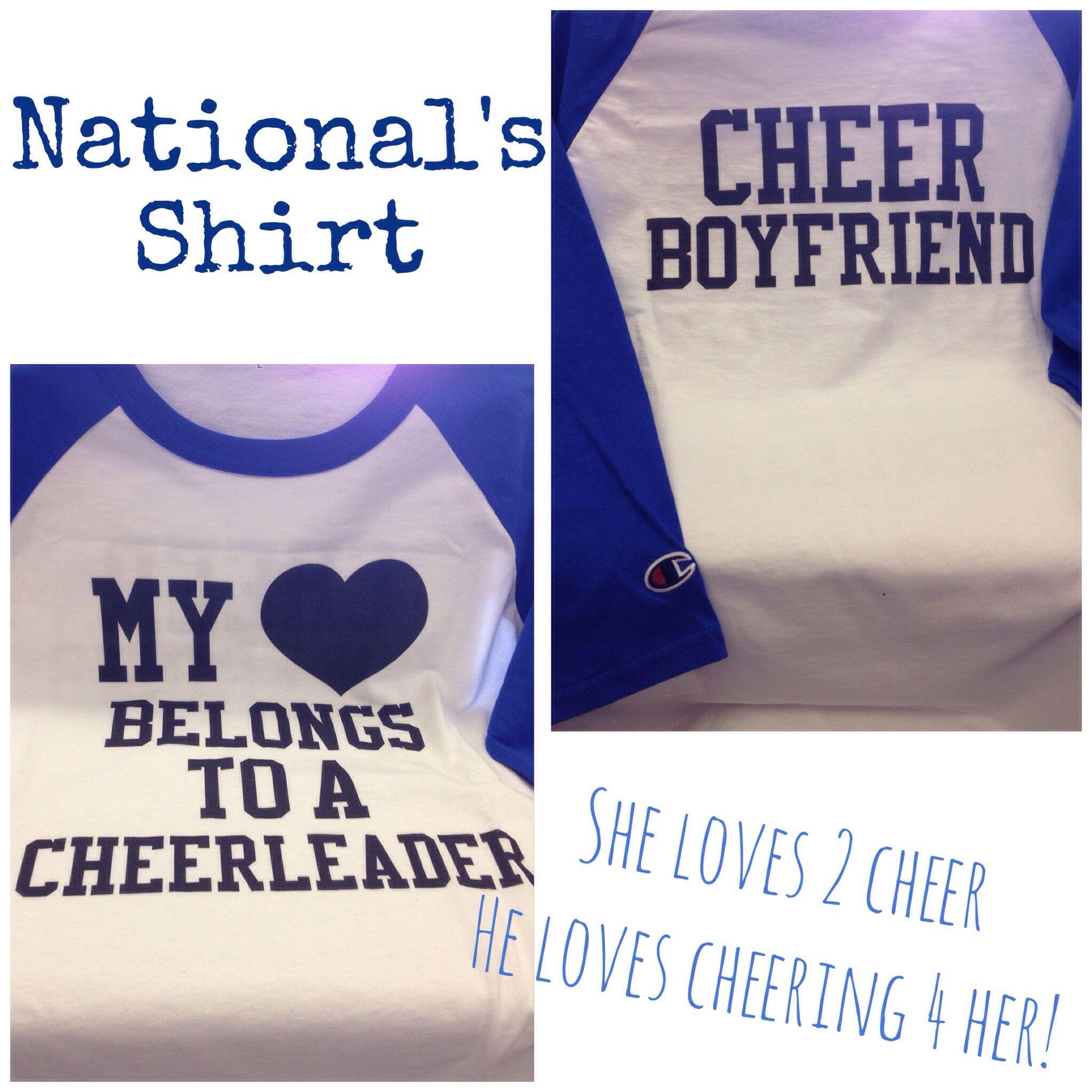 218e5fe839 My daughter's boyfriend shirt! Cute! #cheerleading #cheerboyfriend  #mycreativeshirtideas