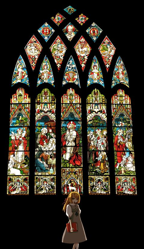 Stained Glass Stained Glass Jesus Art Anime Wallpaper