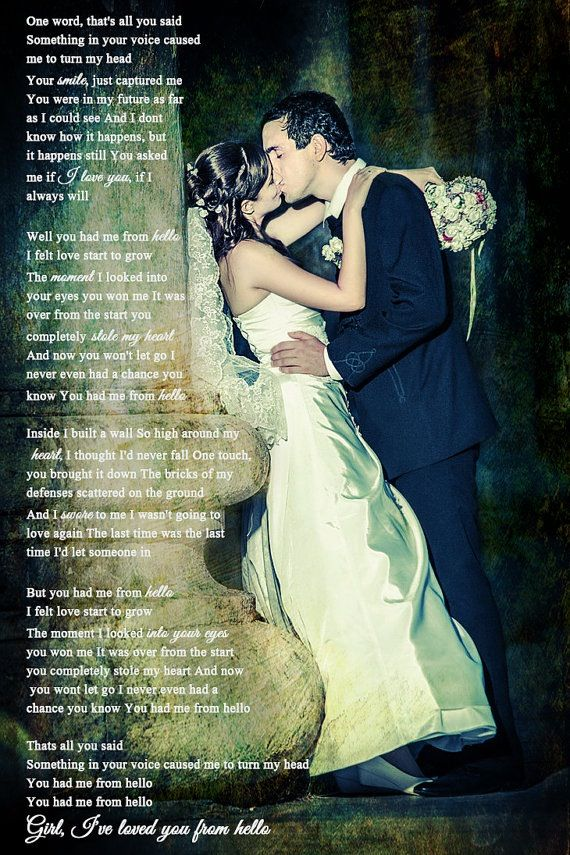 wedding picture with lyrics 3 can some1 get aaron