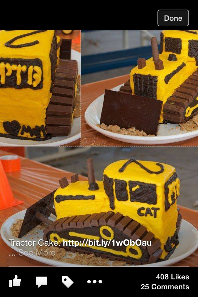 Bulldozer Cake Cake Decorating Pinterest Bulldozer Cake Cake