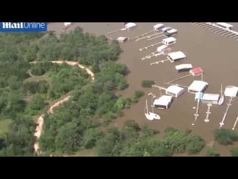 Aerial shots show devastation of flooding in Oklahoma - YouTube