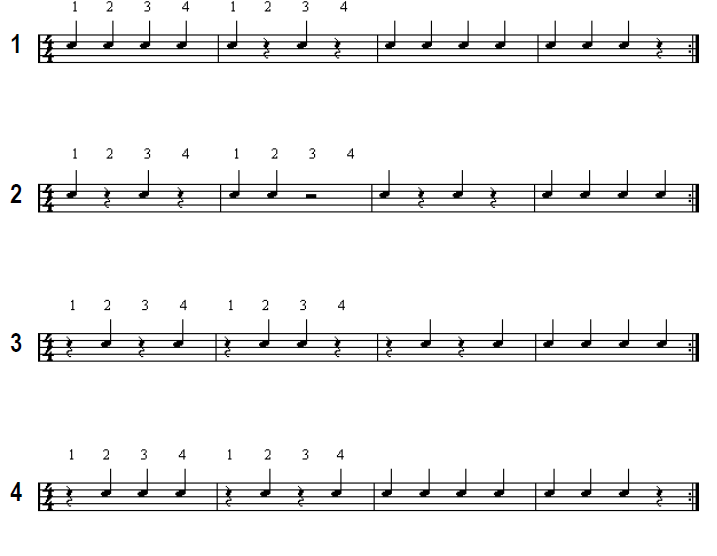 Snare Drum Beginner Sheet Music