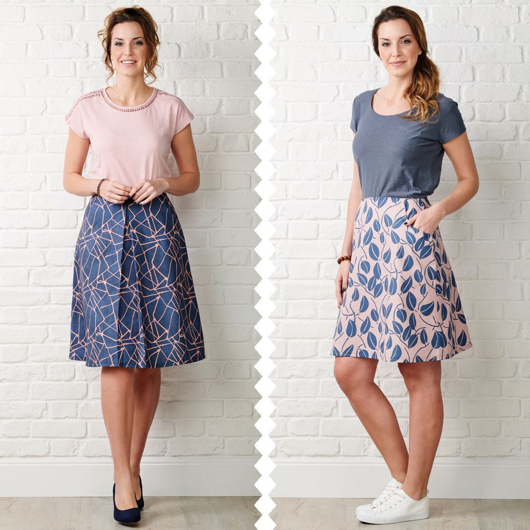 Kelham Skirt Sewing Pattern MIY Collection's staple A-line Kelham Skirt has pleat, pocket and waistband details to mix and match for 20 ways to make it.