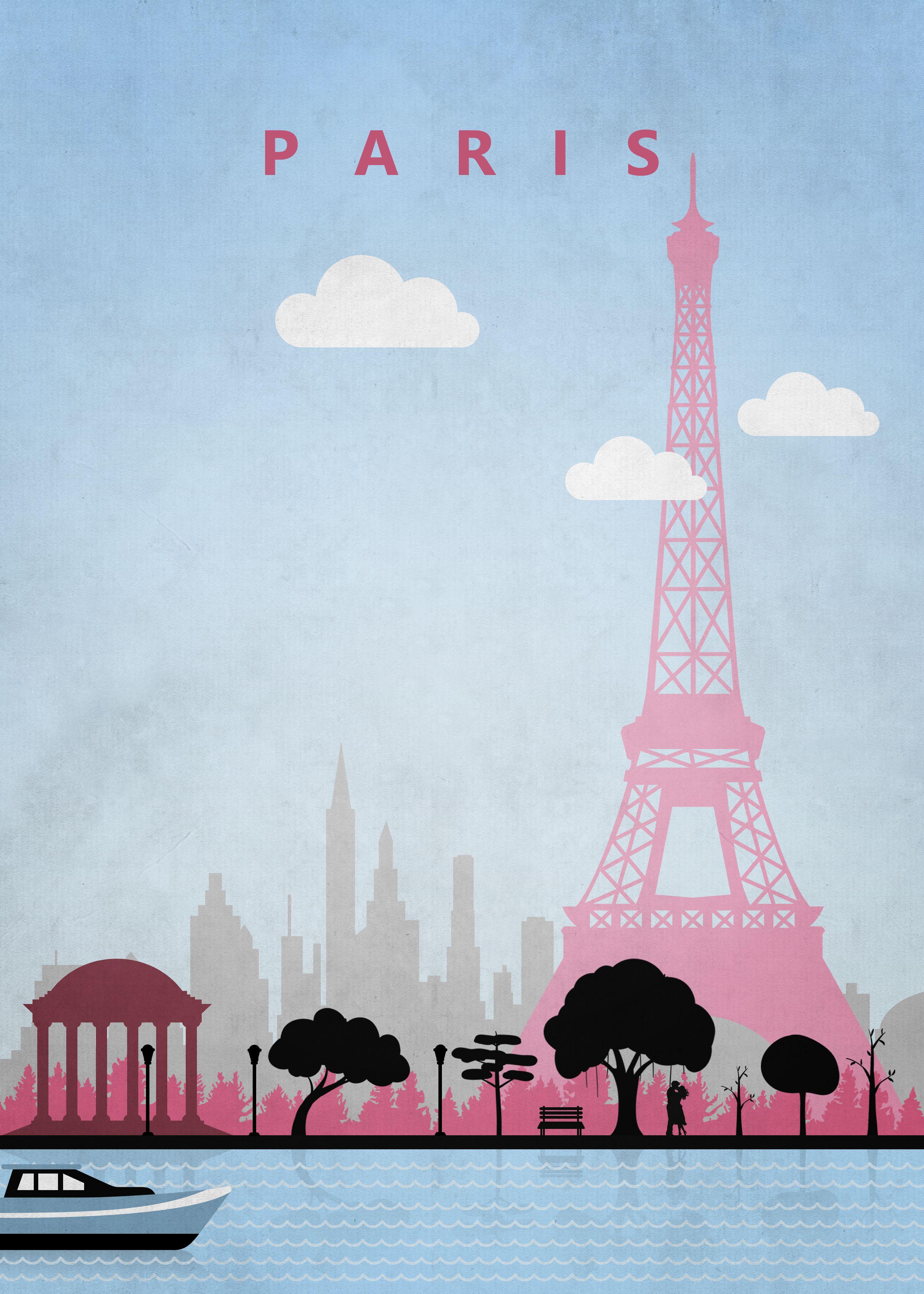 Paris Travel Poster Poster Print By Black Foxe Displate Paris Travel Poster Paris Poster Vintage Poster Prints