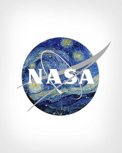 "paraparaparadigm: "" NASA's logo reimagined with Vincent Van"