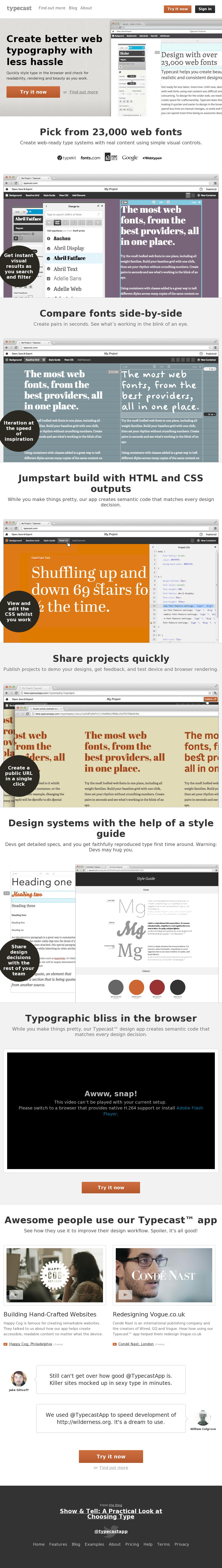 Quickly style type in the browser and