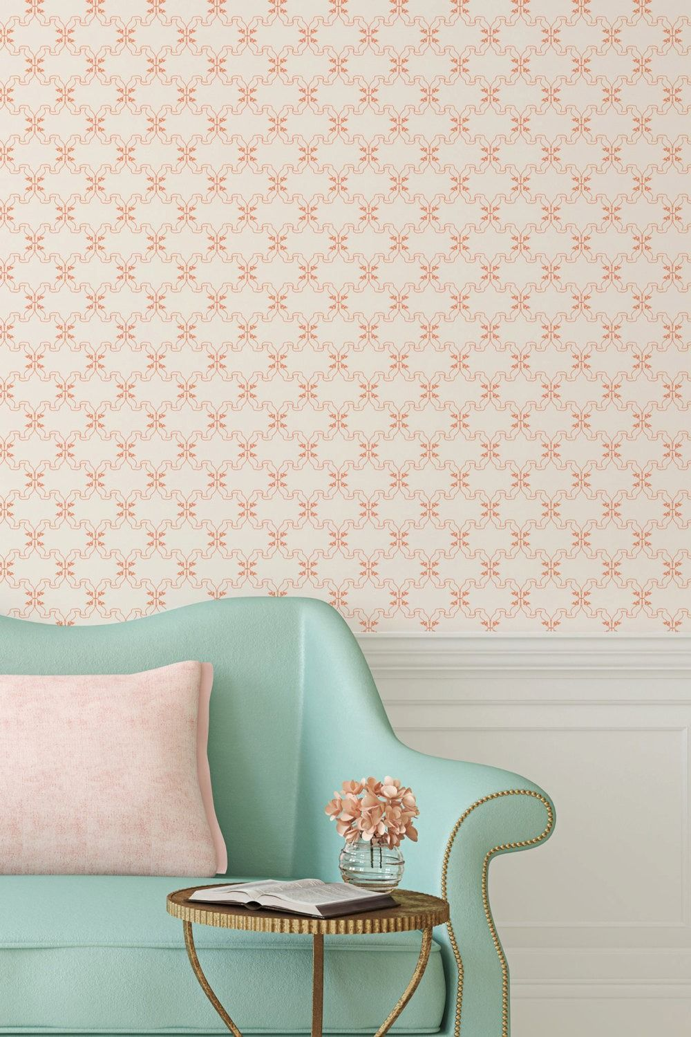 Peel And Stick Your Way To An Updated Room Vintage Living Room Furniture Home Decor Wallpaper Samples