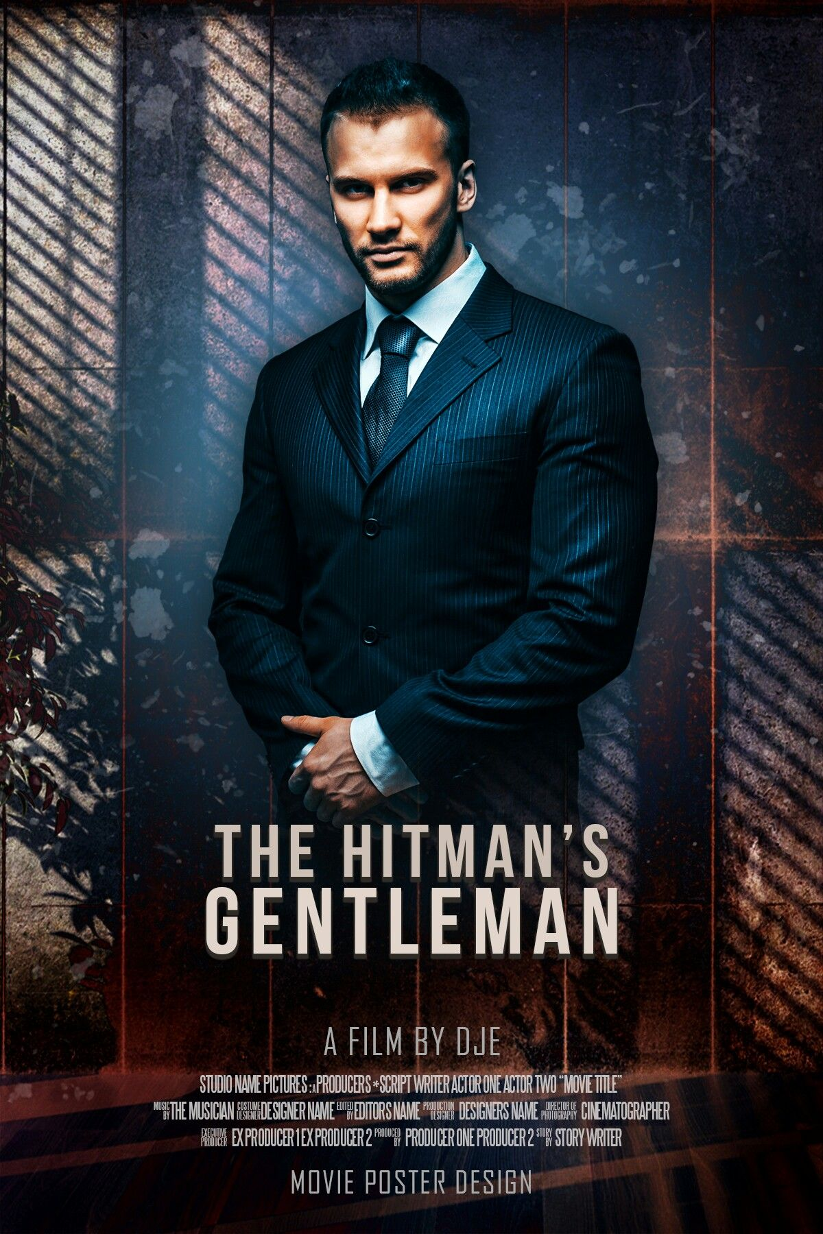 The Hitman S Gentleman Bydje Photoshop Poster Poster Hitman Movie Posters