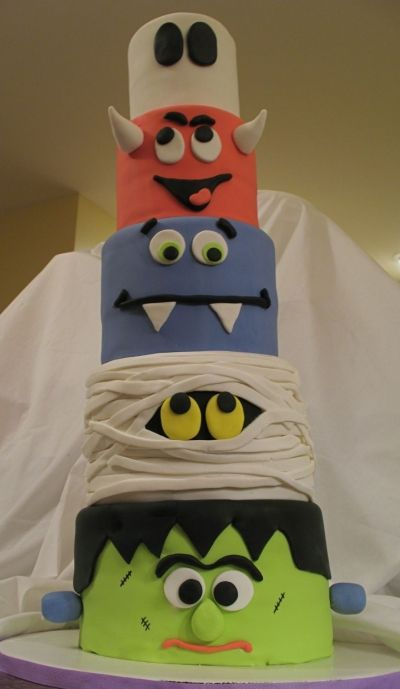 Halloween Tower of Terror By maimerbaker on CakeCentral Cake - wilton halloween cupcake decorations