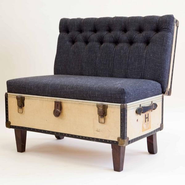 Beautiful Retro Modern Chairs Made With Old Suitcases Handmade - Beautiful retro modern chairs made old suitcases