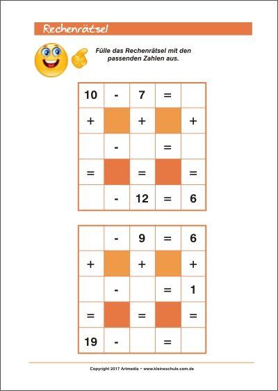 Mathe kann Spaß machen! Rechenrätsel Training für Kinder - 1. Klasse ...