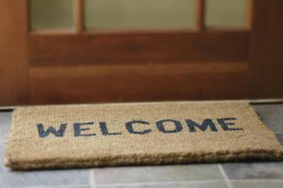 How to Paint a Coir Doormat | House Projects! | Coir doormat