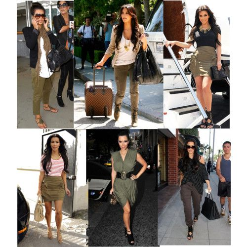 Kim k military inspired looks