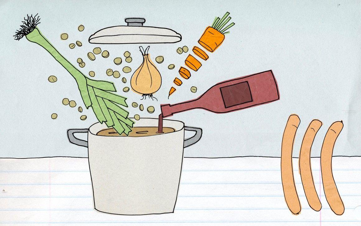 Agenturküche: Tradition aus dem Ländle– Lensa ond Schbäzla. #illustration #rezept #food