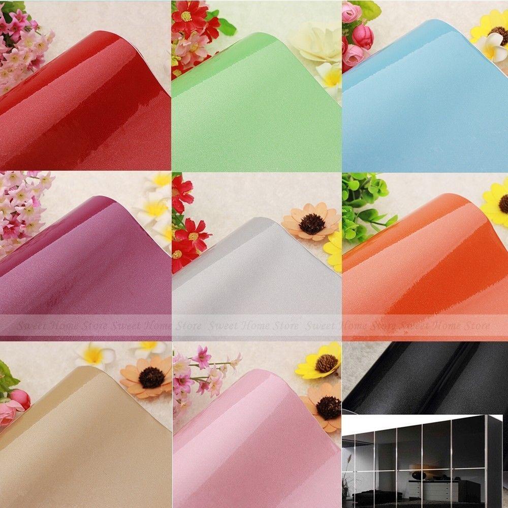 Beautiful Solid Color Self Adhesive PVC Contact Paper Shelf Liner Peel U0026 Stick  Wallpaper #YAZI