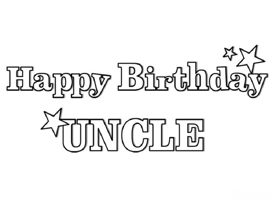 love my uncle coloring pages Love Happy birthday uncle